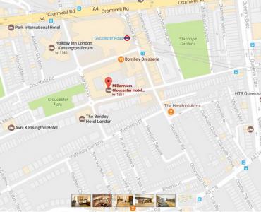 Karta Gloucester hotell london